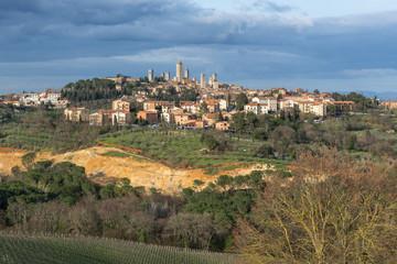 Panoramic view of San Gimignano, Tuscany, Italy