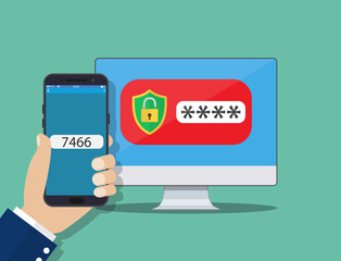 Two step authentication on smartphone