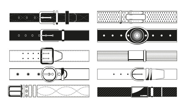 Leather belt monochrome pictures