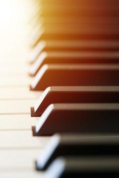 black and white piano keys