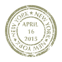 Postal Stamp from NEW YORK