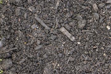 a brown earth heap