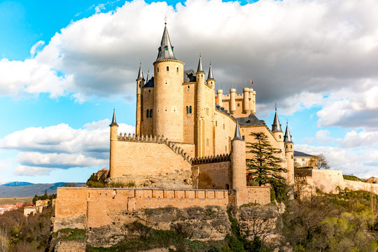 The great Alcazar of Segovia, one of the most interesting places in Spain