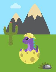 Prehistoric Image Dinosaur Vector Illustration
