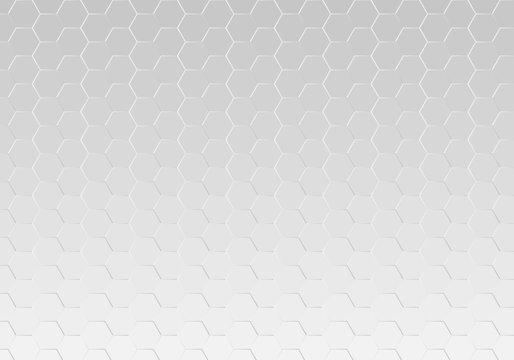 Abstract metallic hexagon mesh pattern background texture vector illustration.
