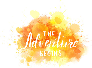 The Adventure begins watercolor background