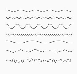 Horizontal wave lines