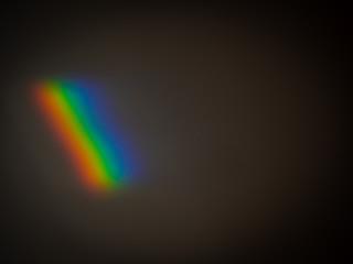 Spektralfarben auf einer Mauer