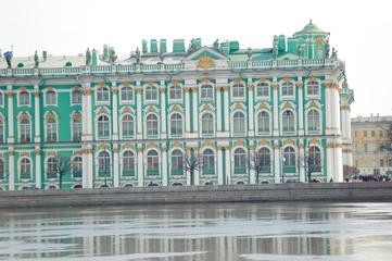 Winter Palace, view across the Neva River