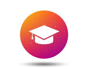 Education icon. Graduation cap sign.