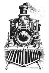 steam locomotive railway #vector #isolated - Lokomotive Lok