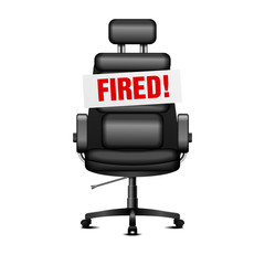 office chair fired