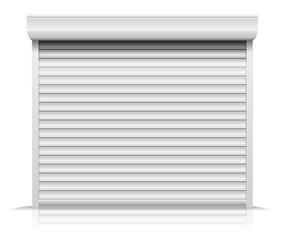 closed shutter door