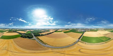 Luftbild Felder vor Wörrstadt volle 360° für sphärische Projektion