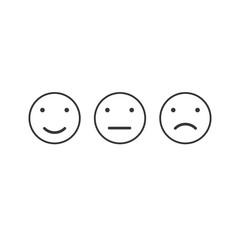 Simple emotion satisfaction line icon