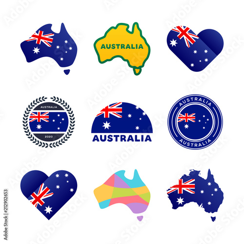 Australian Flag Map And Other National Symbols I Love Australia