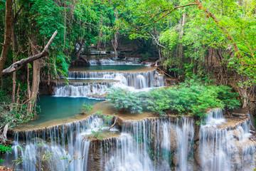 Wall Mural - Beautiful waterfall at Kanchanaburi, Thailand