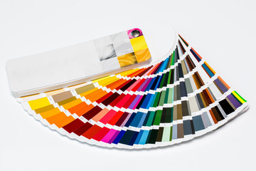 Veer of a palette of paints for an interior.