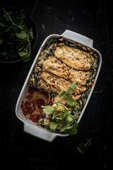 vegetable lasagna with egg plant