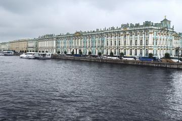 Winter Palace which houses Hermitage museum