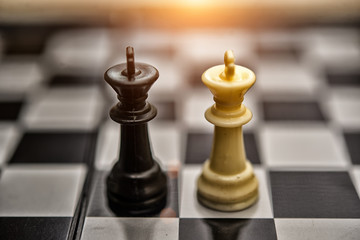 Chess Kings - business concept series - merger
