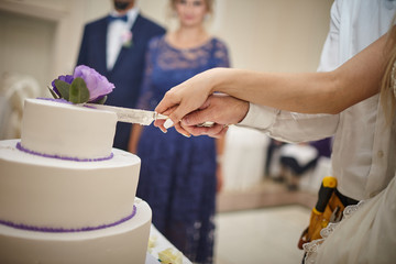 wedding, cake, hands,