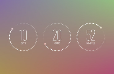 Digital countdown clock counter timer, coming soon or under construction web site page time remaining count down