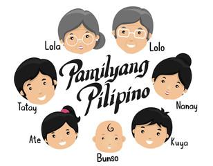 Filipino Family Illustration