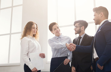 Business people handshake at first meeting