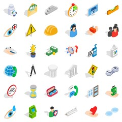 Person care icons set. Isometric style of 36 person care vector icons for web isolated on white background