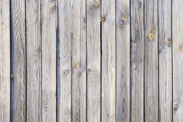 Old wooden laths background, Texture of untreated wood, Weathered larch background
