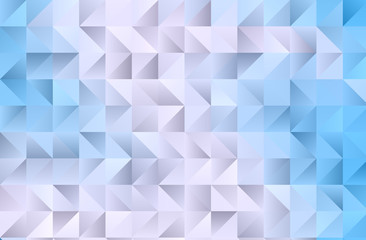 Light blue background with triangles Simple geometric background with gradient shapes. Vector illustration