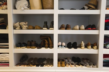 Shoes kept on selves