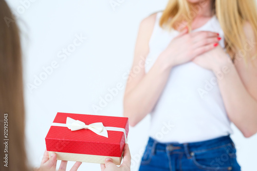 Present In A Gift Box For Mother Birthday Surprise Loving Daughter