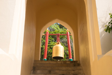 Bells in the temple at Nakhon Pathom, Thailand.