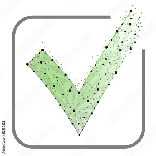 Abstract Design Green Check Mark Icon Tick Symbol In Green Color