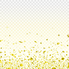 Stock vector illustration gold confetti isolated on a transparent background EPS 10