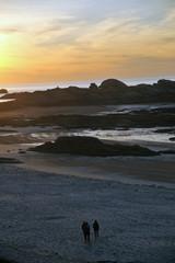 coucher de soleil sur les rochers