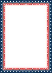 American patriotic decorative frame in flag colors