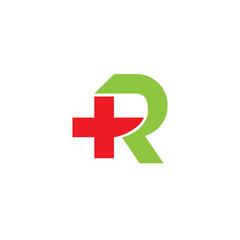 Healt R Letter Logo