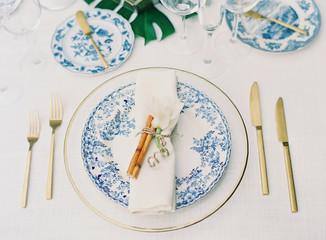 Blue and White Wedding Decor