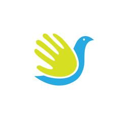 bird hand save logo