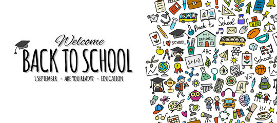 Back to school, background for your design