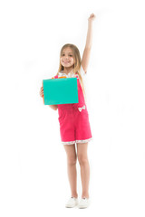 Wait to buy. Girl cute teenager carries shopping bag. Shopping discount. Kid bought clothing summer sale. Loyalty program benefits. Loyalty programs remain extremely popular with consumers