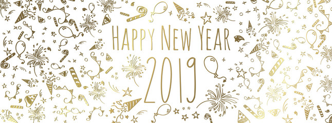 happy new year 2019 Wall mural