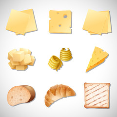 A Set of Bread and Cheese