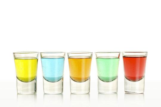 five colorful shots