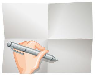 A Blank Folded Paper