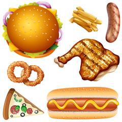 A Set of American Fast Food