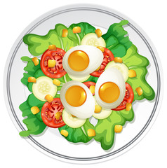 A Plate of Egg Salad